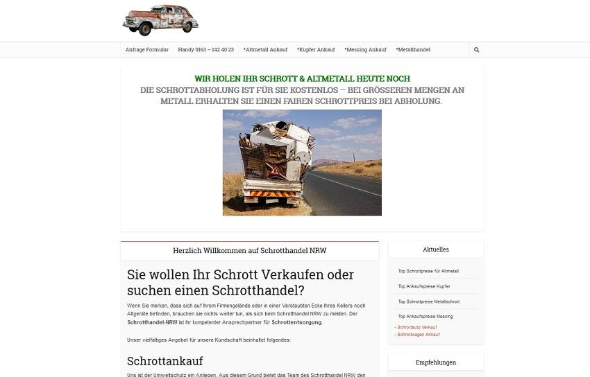 Schrotthändler in Düsseldorf   SchrottAnkauf: Sofort Bargeld für Ihr Schrott